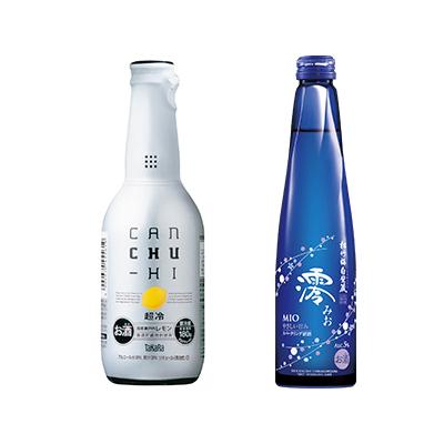 タカラcanチューハイ「超冷」チルド〈レモン〉,松竹梅白壁蔵「澪」スパークリング清酒300ml